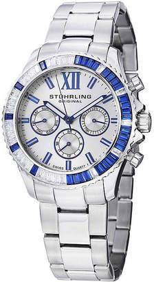 Stuhrling Original Sthrling Original Womens Crystal-Accent Silver-Tone Dial Bracelet Watch