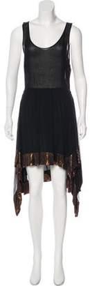 Vena Cava Sleeveless Silk Dress