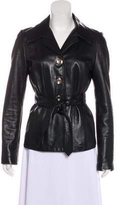 Dolce & Gabbana Belted Leather Jacket