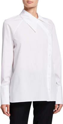 Rosetta Getty Asymmetric Button-Front Shirt