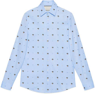 Gucci UFO and symbols fil coupé shirt