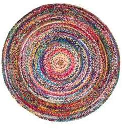 nuLoom Tammara Round Hand-Braided Cotton Rug
