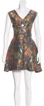 Michael Van Der Ham Jacquard Cutout Dress