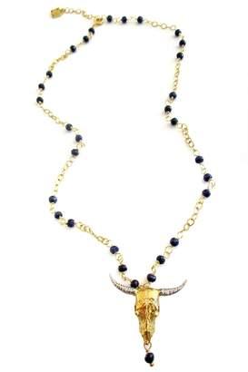 Malia Jewelry Sapphire Bull Necklace
