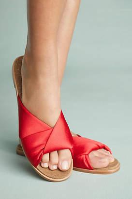 Anthropologie Criss Cross Satin Sandals