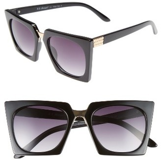 Women's A.j. Morgan Cropduster 52Mm Sunglasses - Black $24 thestylecure.com