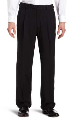 Haggar Men's Big-Tall Expandable Waistband Repreve Stria Pleat Front Dress Pant