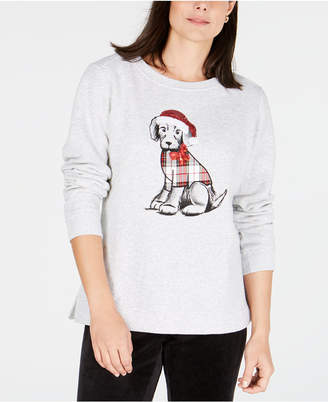 Karen Scott Graphic Holiday Sweatshirt, Created for Macy's