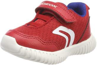 Geox Boy's B Waviness BOY Sneakers, Red/Royal