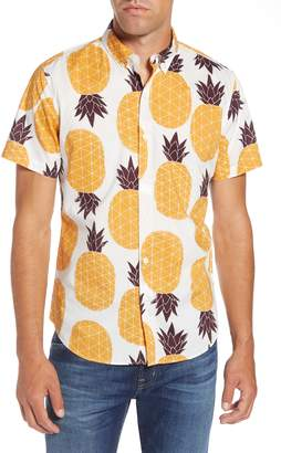 Bonobos Riviera Slim Fit Pineapple Print Sport Shirt
