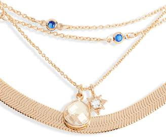 Treasure & Bond Layered Charm & Snake Chain Necklace