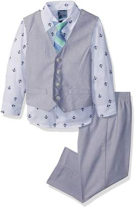 Nautica Toddler Boys' Set with Vest, Pant, Shirt, and Tie