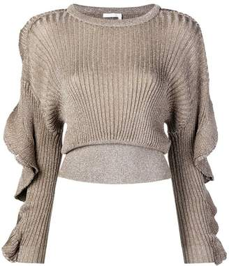 Chloé cropped ribbed knit sweater