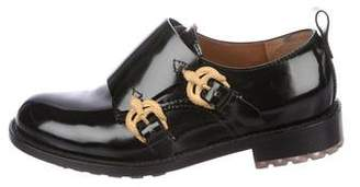 Valentino Leather Snake Loafers
