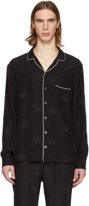 Dolce & Gabbana Black Silk Shirt
