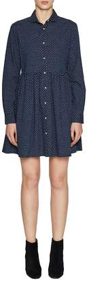 French Connection Women's Patterned Cotton Fit-&-Flare Dress