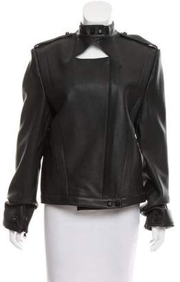 Sally LaPointe Leather Structured Jacket w/ Tags