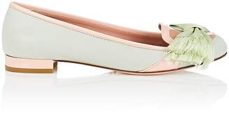 RED Valentino WOMEN'S BOW-EMBELLISHED COLORBLOCK LEATHER FLATS