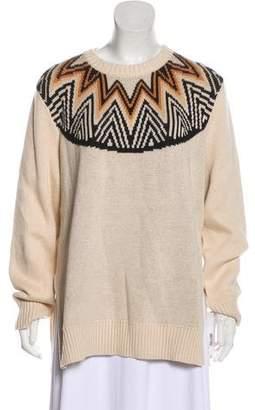 Mara Hoffman Long Sleeve Intarsia Sweater w/ Tags