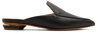 Nicholas Kirkwood Beya Grained Leather Backless Loafers - Womens - Black