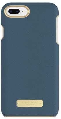 sugar paper Wrap Case for iPhone 8 Plus & iPhone 7 Plus - Navy Blue Saffiano
