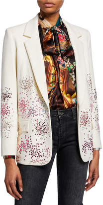 Libertine Mo' Monet Mo' Problems Spray Paint Crystals One-Button Long Blazer