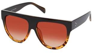 Vintage Sunglasses Pop Fashionwear Inc. Women's Fashion Flat Top Super Future Retro P4156