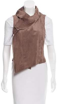 BCBGMAXAZRIA Faux-Suede Asymmetric Hem Vest
