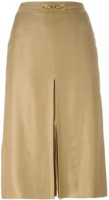 Celine Pre-Owned front slit belted skirt