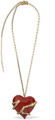 Saint Laurent Oversize Coeur Pendant Necklace
