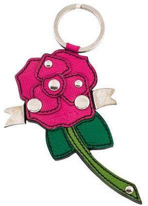 Prada Saffiano Rose Bag Charm