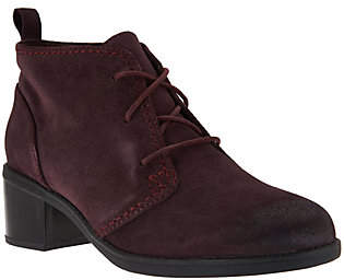 Clarks Leather or Suede Lace-up Ankle Boots -Nevella Harper