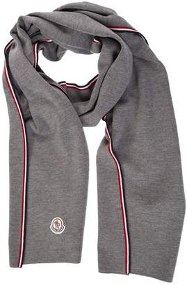 Moncler Striped Trim Scarf
