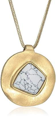 The Sak Semi-preciousIrregular Stone Pendant Necklace