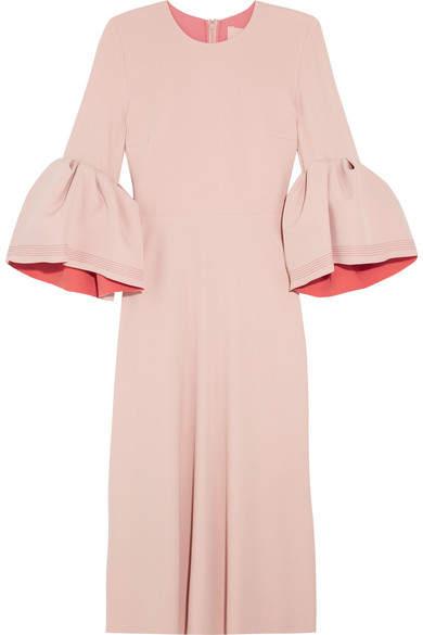 Roksanda - Turlin Stretch-crepe Midi Dress - Pastel pink
