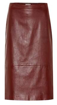 The Row Jaston leather skirt
