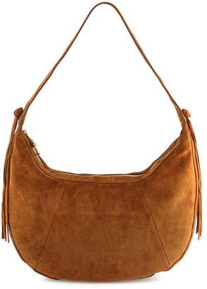 Elizabeth and James Zoe Large Leather Hobo Bag, Tobacco $595 thestylecure.com