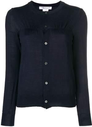 Comme des Garcons ruched front cardigan