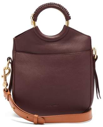 See by Chloe Monroe Small Leather Cross Body Bag - Womens - Burgundy