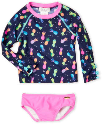 Jessica Simpson Toddler Girls) Two-Piece Pineapple Print Swimsuit