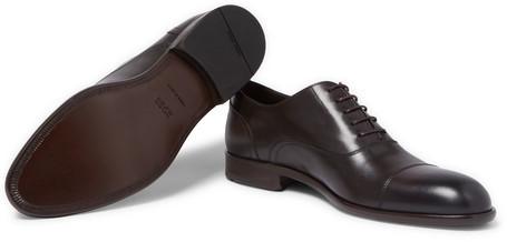 HUGO BOSS Manhattan Cap-Toe Leather Oxford Shoes