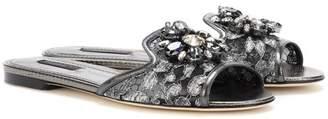 Dolce & Gabbana Embellished mesh sandals