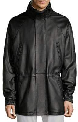 Loro Piana Icer Classic Leather & Cashmere Jacket