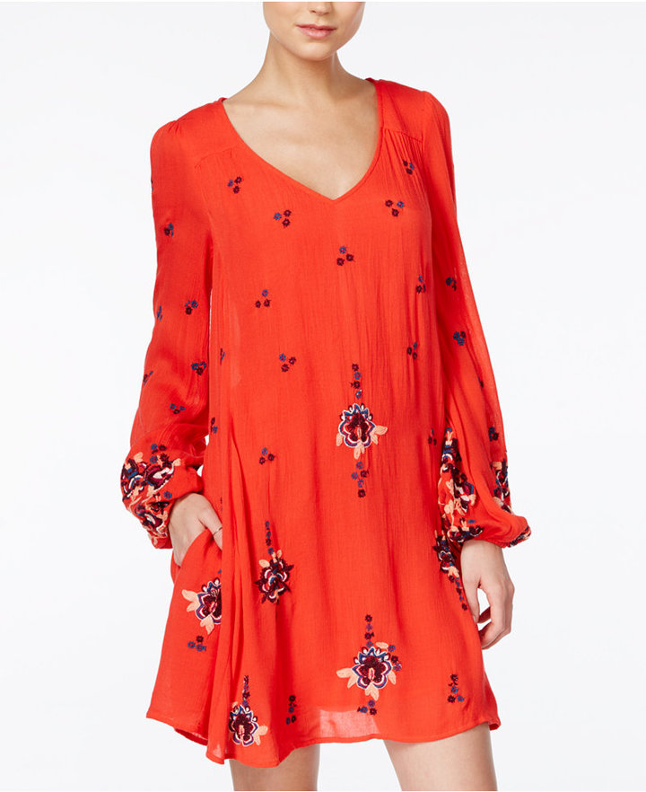 Free People Oxford Embroidered Shift Dress 7
