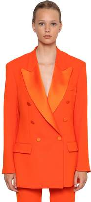 MSGM Double Breasted Crepe Jacket