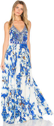 Camilla Pleated Slip Dress in Blue $650 thestylecure.com
