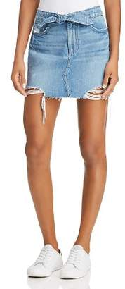 Paige Alethea High Rise Denim Skirt in Arissa Destructed