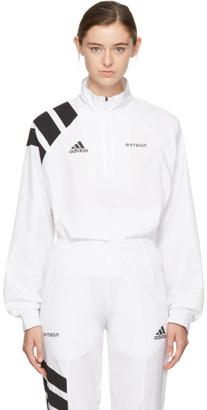 Gosha Rubchinskiy White adidas Originals Edition Zip Collar Track Jacket $165 thestylecure.com