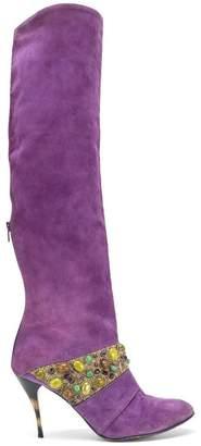 Jean Louis Scherrer Vintage 1988 embellished ankle boot
