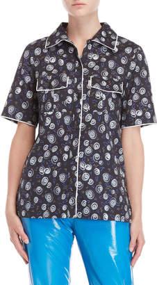 Fiorucci Roller Print Contrast Trim Shirt